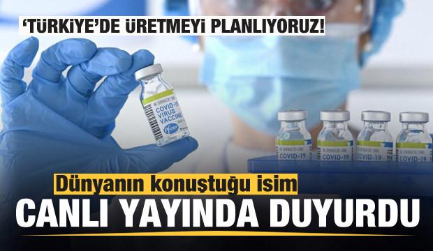 Dünyanın konuştuğu ad canlı yayında açıkladı: Türkiye'de üretmeyi planlıyoruz